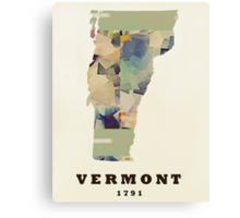 vermont state map  Canvas Print
