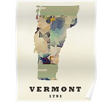 vermont state map  Poster