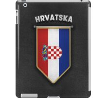 Croatia Pennant with high quality leather look iPad Case/Skin
