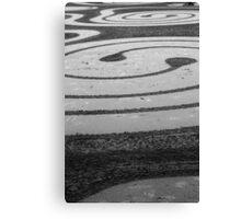 Spirals in the sand Canvas Print