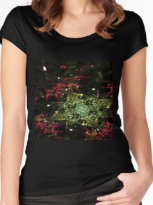 Christmas - Abstract Fractal Artwork Women's Fitted Scoop T-Shirt