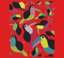 parrots pattern One Piece - Short Sleeve