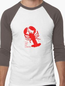 You Are My Lobster (Right) Couples Design Men's Baseball ¾ T-Shirt