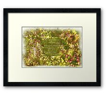 My New Year's Resolution Is . . . Poem And Image Framed Print