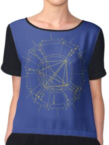 "CONTACT US BEFORE ORDERING! For Your Custom Astrology Products please read ""Artist Notes"" below Chiffon Top"
