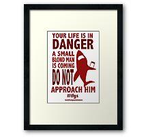 Rin || Danger Framed Print