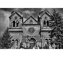 St. Francis Cathedral Basilica Study 5 BW  Photographic Print