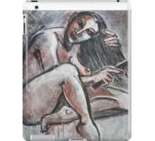 Woman Combing Her Hair iPad Case/Skin