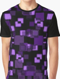Purple Squares abstract Graphic T-Shirt