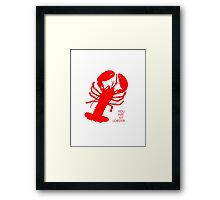 You Are My Lobster (Left) Couples Design Framed Print