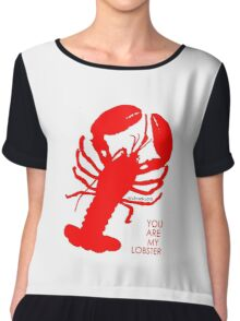 You Are My Lobster (Left) Couples Design Chiffon Top