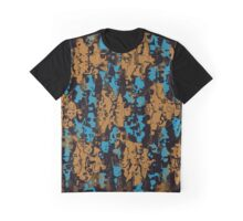 Blue brown texture Graphic T-Shirt