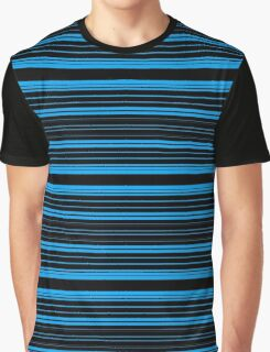 Black and Blue Stripes Graphic T-Shirt