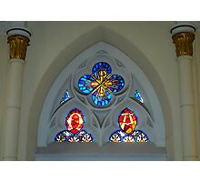 Loretto Chapel Stained Glass  Photographic Print