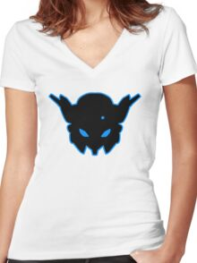 Insignia #2 Blue Women's Fitted V-Neck T-Shirt