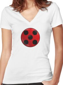 Spots on! Women's Fitted V-Neck T-Shirt