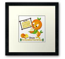 Florida Orange Bird - Disney World Framed Print