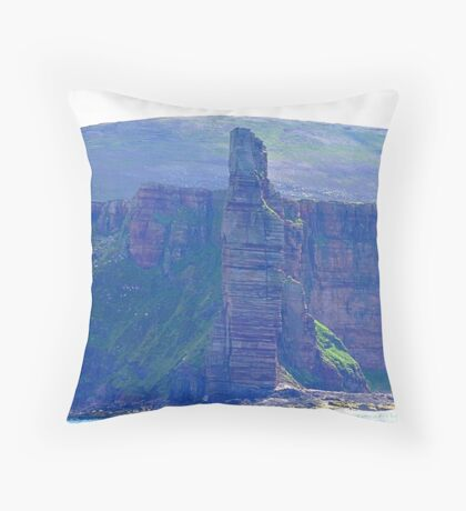 Old Man of Hoy, Hoy, Orkney Islands, Scotland Throw Pillow