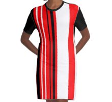 Red Line Graphic T-Shirt Dress