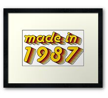 Made in 1987 (Yellow&Red) Framed Print