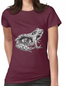 Eye-Back frog Womens Fitted T-Shirt