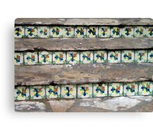 Tile Nestled in Stairs Canvas Print