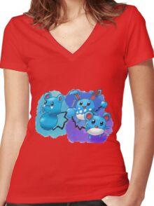 Azurill, Marill & Azumarill Women's Fitted V-Neck T-Shirt