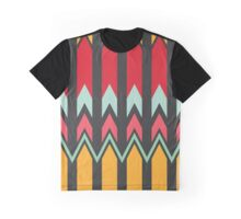 Waves and other shapes pattern Graphic T-Shirt