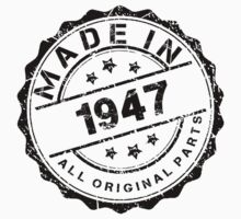 MADE IN 1947 ALL ORIGINAL PARTS by smrdesign