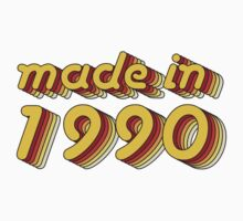 Made in 1990 (Yellow&Red) Kids Clothes