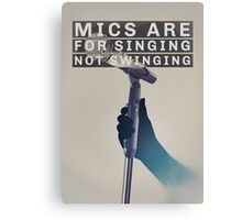 "Brand New (Band) ""Mics Are For Singing"" Poster Canvas Print"