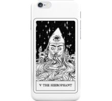V The Hierophant Tarot Card Design  iPhone Case/Skin
