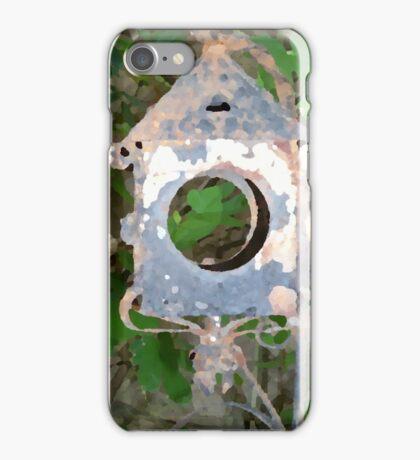 Battered Metal Birdhouse iPhone Case/Skin