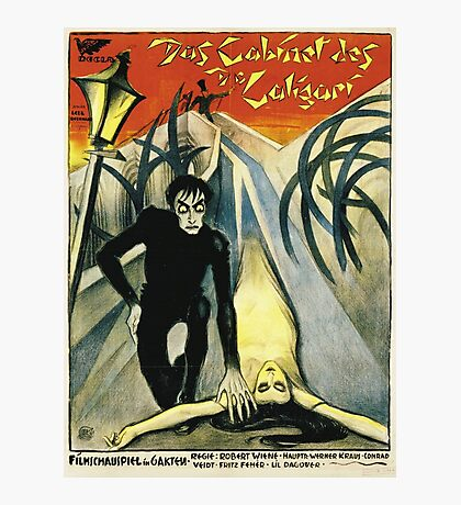 The Cabinet of Dr. Calgari - Silent Movie poster Photographic Print