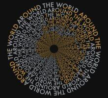 Around the World - Gold, Silver T-Shirt