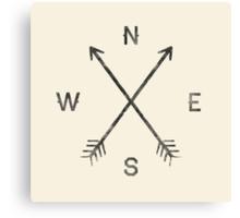 Compass - Natural Canvas Print