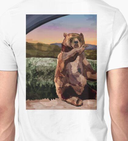 Waving Bear Unisex T-Shirt