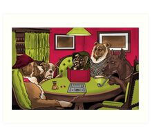 Dogs Playing Dungeons and Dragons Art Print