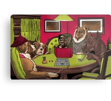 Dogs Playing Dungeons and Dragons Metal Print