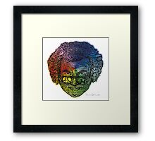 Jerry Face / Jerry Garcia portrait colorized #1 Framed Print
