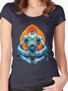 psychic yeti Women's Fitted Scoop T-Shirt
