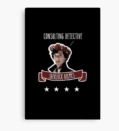 Consulting detective Sherlock Holmes Canvas Print