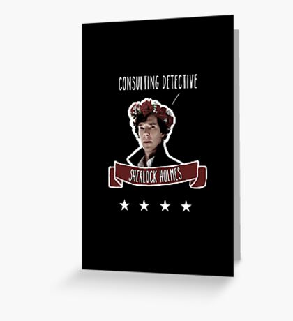 Consulting detective Sherlock Holmes Greeting Card