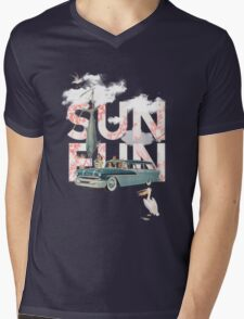 Sun Fun Mens V-Neck T-Shirt