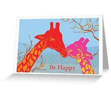 African Safari - Be Happy Greeting Card