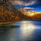 Golden lakescape by Roberto Pagani