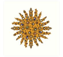 Golden Crown Thing with Jewels Art Print