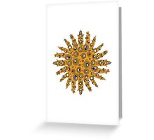 Golden Crown Thing with Jewels Greeting Card
