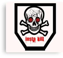 insta kill black ops remade  Canvas Print
