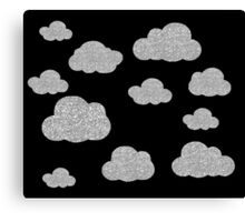 Silver and Black Lining  Canvas Print